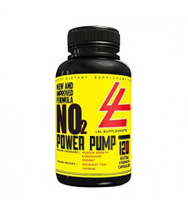 Elite NO2 Nitric Oxide AND L-Arginine Supplement - 120 Capsules to Increase Performance, Gain Lean, Hard Muscle & Boost Enduran