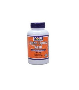 Now Foods Alpha Lipoic Acid 250 mg, 120 caps (Pack of 2)