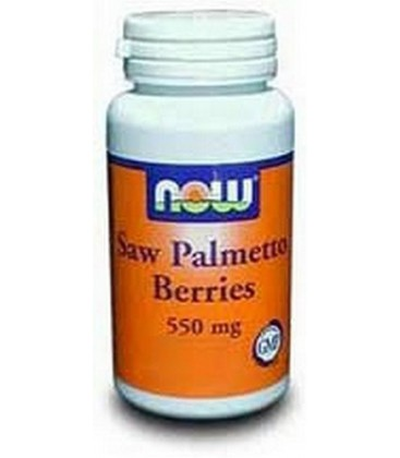 NOW Foods Saw Palmetto Berries 550mg, 100 Capsules (Pack of 3)