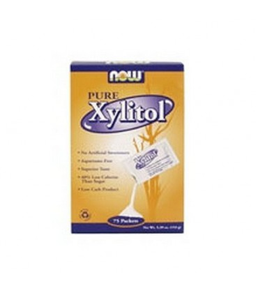 Now Foods Xylitol, 75 Packets (Pack of 2)