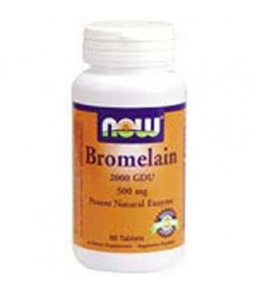 Bromelain 2000 GDU 90 Tabs 500 Mg - NOW Foods