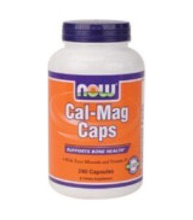 Cal-Mag Calcium Magnesium 240 Caps - NOW Foods