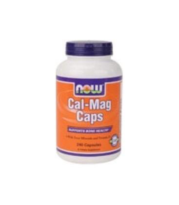 Cal-Mag Calcium Magnesium 240 Caps - NOW Foods