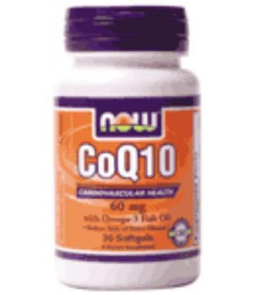 CoQ10 60 mg with Omega 3 Fish Oils 30 Softgels