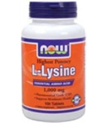 L-Lysine 1,000 mg 100 Tablets