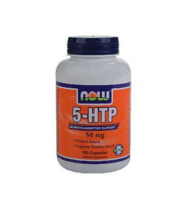 NOW 5-HTP NATURAL SOURCE 5-HYDROXYTRYPTOPHAN 50mg - 180 Capsules ( Multi-Pack)