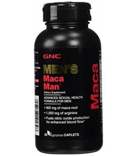 GNC Maca Man 60 Vegetarian Capsules 900mg de mac racine, 1000 mg d'arginine