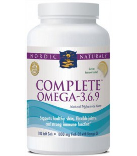 Nordic Naturals Complete Omega, 180 SoftGels, Bottle