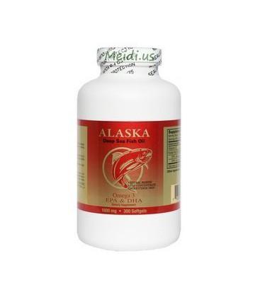 NCB Alaska Deep Sea Fish Oil, Omega 3 1000mg 300 Softgels
