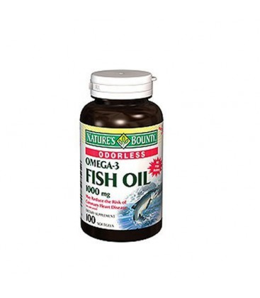 Nature's Bounty Omega-3 Fish Oil, Odorless, 1000mg, 100 Soft