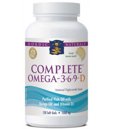 Nordic Naturals Complete Omega 3-6-9 with D Soft Gels, 1000