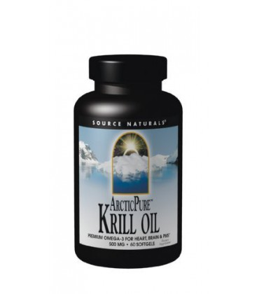 Source Naturals ArcticPure Krill Oil 500mg, 60 Softgels