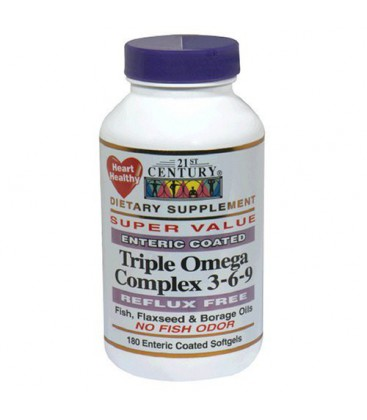 21st Century Dietary Supplement Triple Omega Complex 3-6-9 E