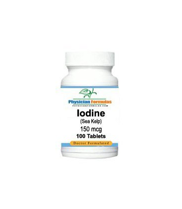 Iodine Supplement from Sea Kelp 150 Mcg, 100 Tablets - Endor