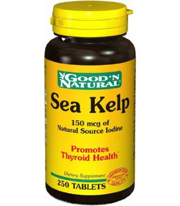 Sea Kelp 100mg - Promotes Thyroid Health, 250 tabs,(Good'n N
