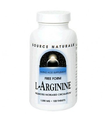 Source Naturals L-Arginine 1000mg, 100 Tablets (Pack of 2)