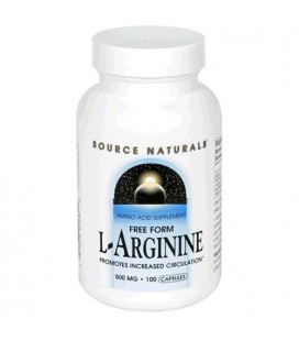 Source Naturals L-Arginine 500mg, 100 Capsules (Pack of 3)