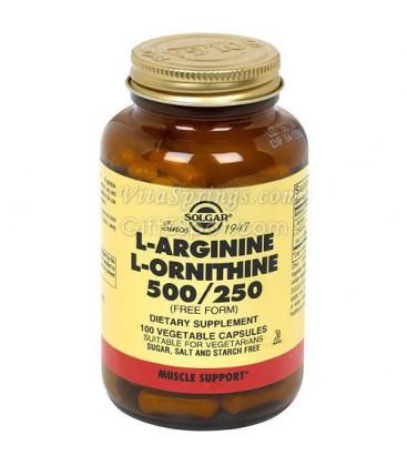 Solgar - L-Arginine L-Ornithine 500/250, 100 veggie caps