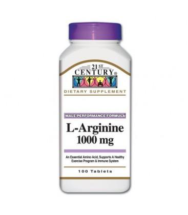 21st Century L-Arginine 1000 Mg 100tbls