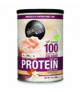 Designer Whey, Protein Powder, Vanilla Almond, 12-Ounce