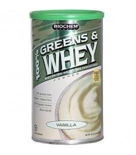 Biochem 100% Greens and Whey Protein Powder, Vanilla, 22.7-O