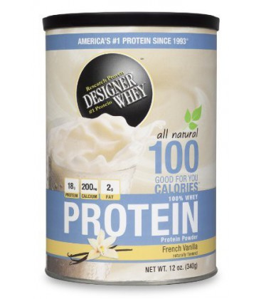 DESIGNER WHEY Protein Powder Supplement, French Vanilla, 12.
