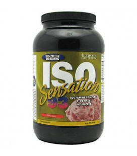 ULTIMATE NUTRITION ISO SENSATION STRAWBERRY 2LB, 2.4 Tub