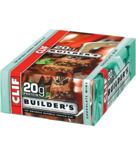 Clif Bar Builder's Bar, Chocolate Mint, 2.4-Ounce Bars, (Pac