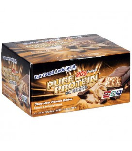 Pure Protein High Protein Bar, Chocolate Peanut Butter, 6 Ba