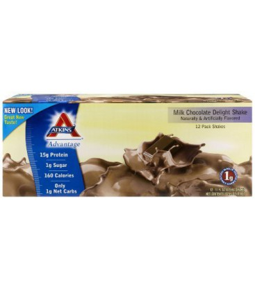 Atkins Ready To Drink Shake, Milk Chocolate Delight, 11-Ounc