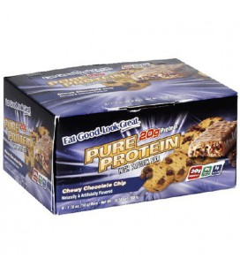 Pure Protein High Protein Bar, Chewy Chocolate Chip, 6 Bars,