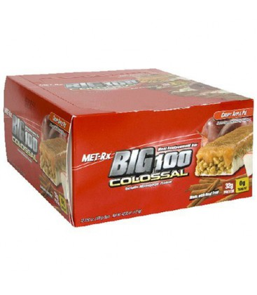 Met-Rx Big 100 Colossal Meal Replacement Bar, Crispy Apple P