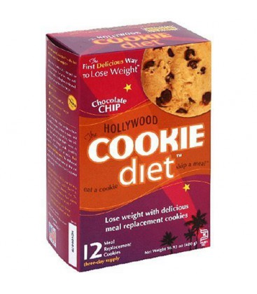 Hollywood Cookie Diet Meal Replacement Cookies, Chocolate Ch