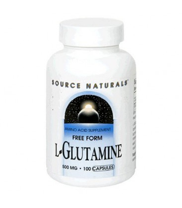 Source Naturals L-Glutamine 500mg, 100 Capsules (Pack of 3)