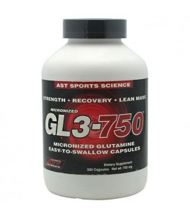 AST Sports Science Micronized GL3 750 L-Glutamine Caps, 500