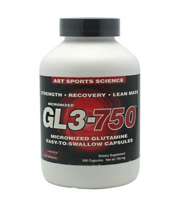 AST Sports Science Micronized GL3 750 L-Glutamine Caps, 500