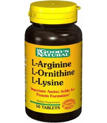 Tri-Amino (L-Arginine, L-Ornithine & L-Lysine) From Good'N N
