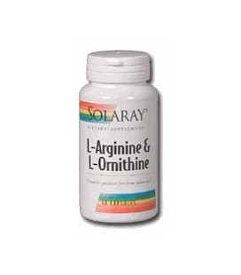 Solaray - L-Arginine & Ornithine, 750 mg, 50 capsules