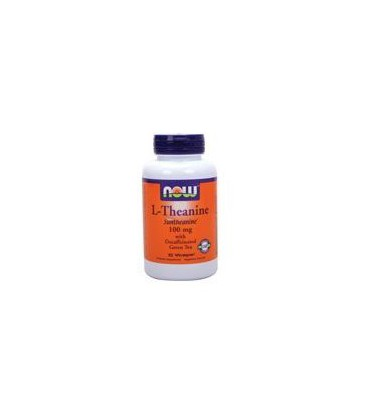 Now Foods L-Theanine, 90 caps (Pack of 2)
