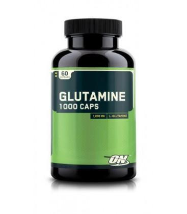 Optimum Nutrition Glutamine 1000mg, 60 Capsules (Pack of 2)