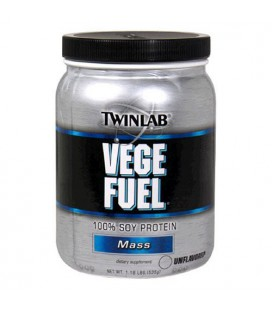 Twinlab Vege Fuel 100 Percent Soy Protein, Mass, Unflavored,