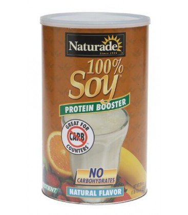 Naturade 100% Soy Protein Booster, Natural Flavor, 29.6 Ounc