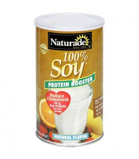 Naturade 100% Soy Protein Booster, Natural Flavor , 14.8 Oun