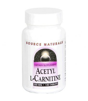 Source Naturals Acetyl L-Carnitine 250mg, 120 Tablets
