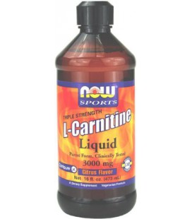 NOW Foods L-Carnitine Liquid 3000mg/Tbsp, 16 ounce
