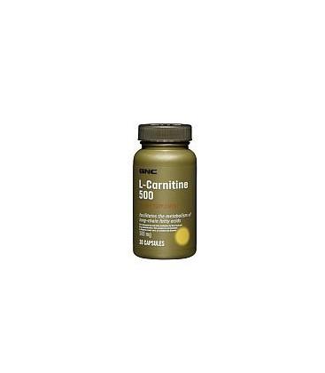 GNC L-Carnitine 500 500mg 60 Capsules