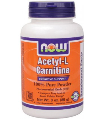 NOW Foods Acetyl L-Carnitine Pure Powder, 3 Ounces