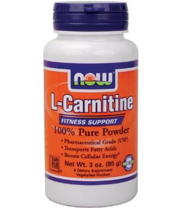 NOW Foods L-Carnitine Powder, 3 Ounces