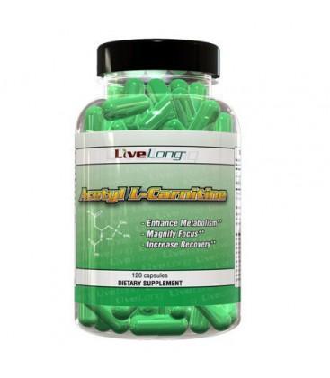 Acetyl L-Carnitine (ALCAR) 500mg, 120 Capsules