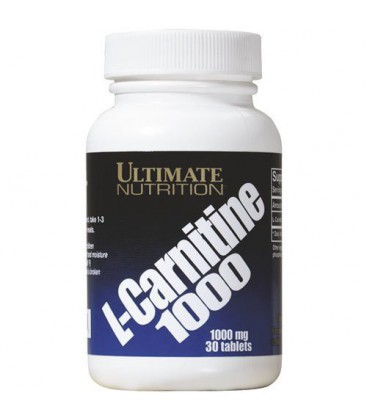 Ultimate Nutrition L-Carnitine, 1000 mg, 30-Count Bottle